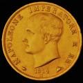 40 LIRE ORO NAPOLEONE 1814  M