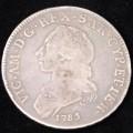 Vittorio Amedeo terzo mezzo scudo 1785