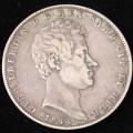 Carlo Alberto 5 Lire 1844 Genova