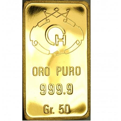 Lingotto in oro 50 grammi