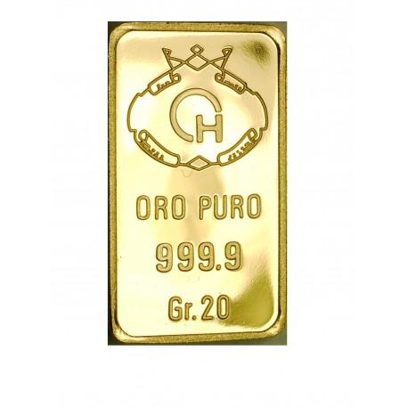 Lingotto in oro 20 grammi